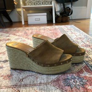 Zara Suede Wedge Sandals